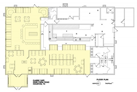 Classic Cafe Site Plan